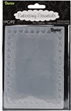 Darice stempelsjabloon, kaartspelsymbool, rand, plastic, transparant, 10,8 x 14,6 x 0,4 cm