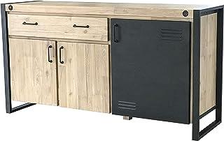 PEÑA VARGAS - Home & Living - Aparador Estilo Industrial - Texas 3 Puertas 1 Cajón (150x45x75)