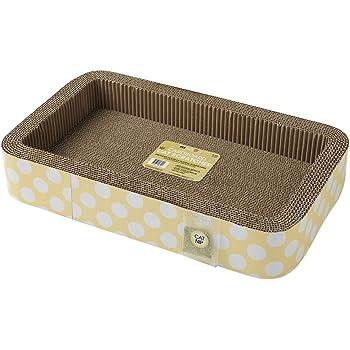 "PetRageous 13079 Yellow 20.87"" x 12.4"" x 3.54"" Dots Print Rectangular Box Jerry's Corrugated Cat Scratcher"