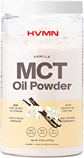 H.V.M.N. MCT Oil Powder - Keto Creamer & Keto Approved Ketosis Supplement from Pure C8 for Ketone Energy, Shakes, Diet Support - 25 Servings(Vanilla)