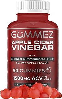 Apple Cider Vinegar Gummies - 90 Count, 1500mg ACV - Gummez ACV Gummies Taste Great Compared to Pills, Capsules, Tablets