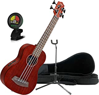Kala Rumbler U-BASS Acoustic-Electric Fretted Satin Finish Agathis Body Ukulele w/Bag, Stand, and Tuner