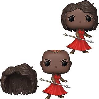 Funko Pop! Marvel: Black Panther Okoye con vestido rojo y peluca desmontable, colección exclusiva de la convención de otoño