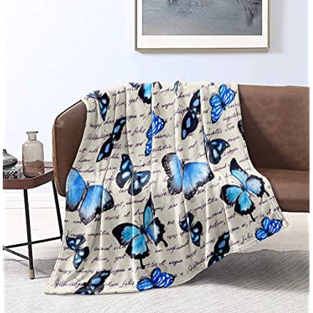 Amazon Com Sleepwish Butterfly Blanket Home Throw Blanket Sherpa Flannel Fleece Reversible Blankets Girls Hippie Blanket 60 X 80 Inch Home Kitchen