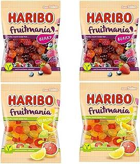 HARIBO ハリボー フルーツマニア ベリー 175g レモン 175g 各2袋ずつ (合計4袋) ゼラチン不使用 ベジタリアン認証
