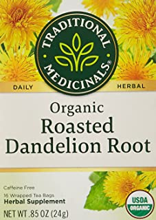 Traditional Medicinal Roasted Dandelion Root, 16 Teabags, 105643