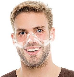 محافظ صورت شفاف ضد مه ضد پلاستیک - پوشش شفاف صورت با قلاب قابل تنظیم تنفس بینی محافظ دهان صورت ضد نفوذ محافظ ضد اسپری مخصوص غذا در هتل رستوران کامیون