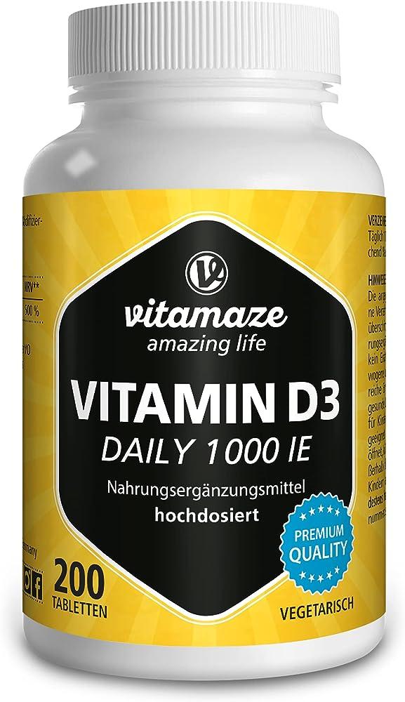 Vitamaze pura vitamina d3 200 compresse integratore senza additivi 123A