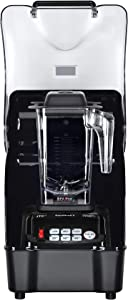 OmniBlend Omni-Q Commercial Blender with Full Sound Enclosure Shield, Heavy Duty 3-Speed, Self-Cleaning, Includes Multifunctional 2-in-1 Wet Dry Blades, 1.5 Liter Jar