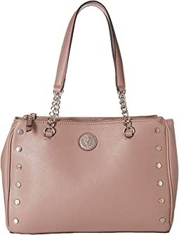Round Double Top Zip Satchel