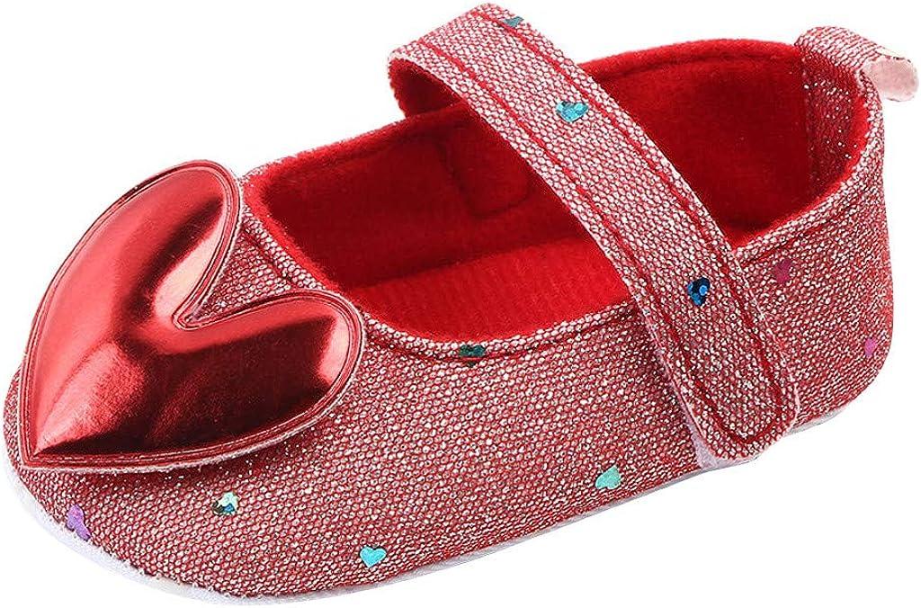 Yowein Newborn Baby Girls Infant Toddler Mary Jane Anti-Slip Princess Dress Shoes - Ballet Flats for Girl Birthday Party