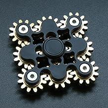 Pure Brass Fidget Spinner Gears Linkage Fidget Gyro Toy Metal DIY Hand Spinner Spins Long Time EDC Focus Meditation Break ...
