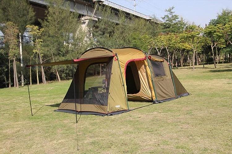 YXLZZO Tente pour Une Chambre à Coucher Double Couche Anti-tempête Arbor Beaucoup de Gens 5-8 Personnes Camping Large Tent Tente