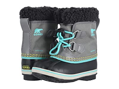 SOREL Kids Yoot Pac Nylon (Toddler/Little Kid) (Quarry/Dolphin) Girls Shoes