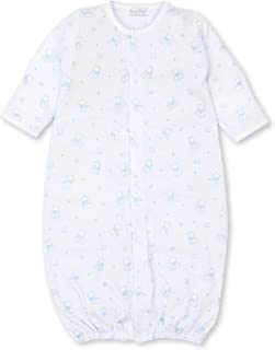 Kissy Kissy Baby-Boys Infant Leopard Love Blue Print Convertible Gown