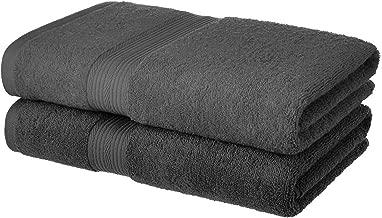 Tribecca 100% Cotton 2 Piece 500 GSM Large Cotton Bath Towel Set :: 140 x 70 cm (Grey Grey)