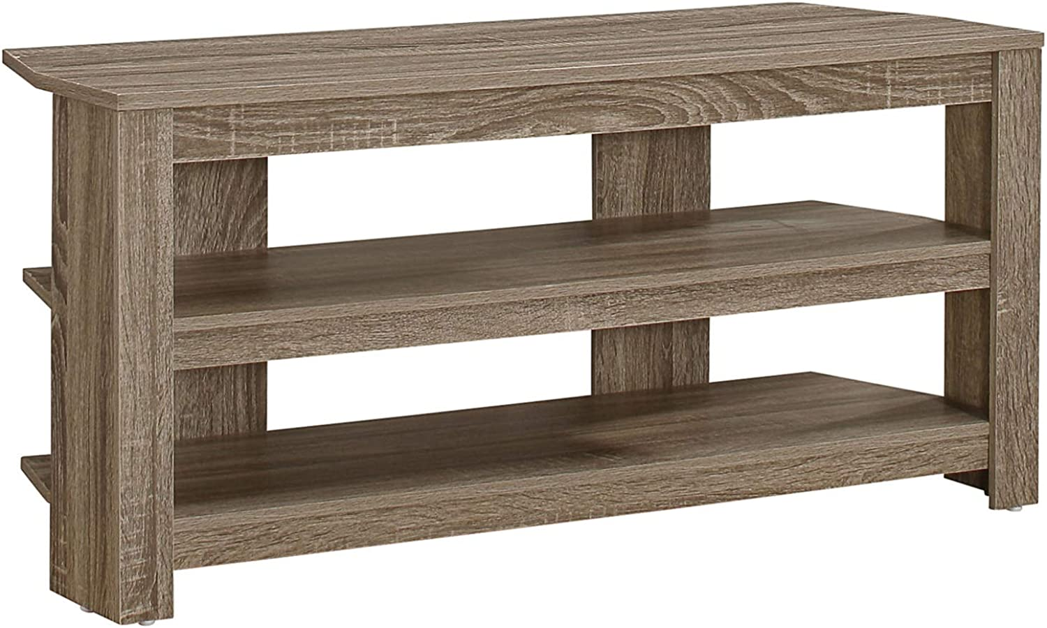 Monarch Specialties I 2569 TV Stand, Dark Taupe, 42