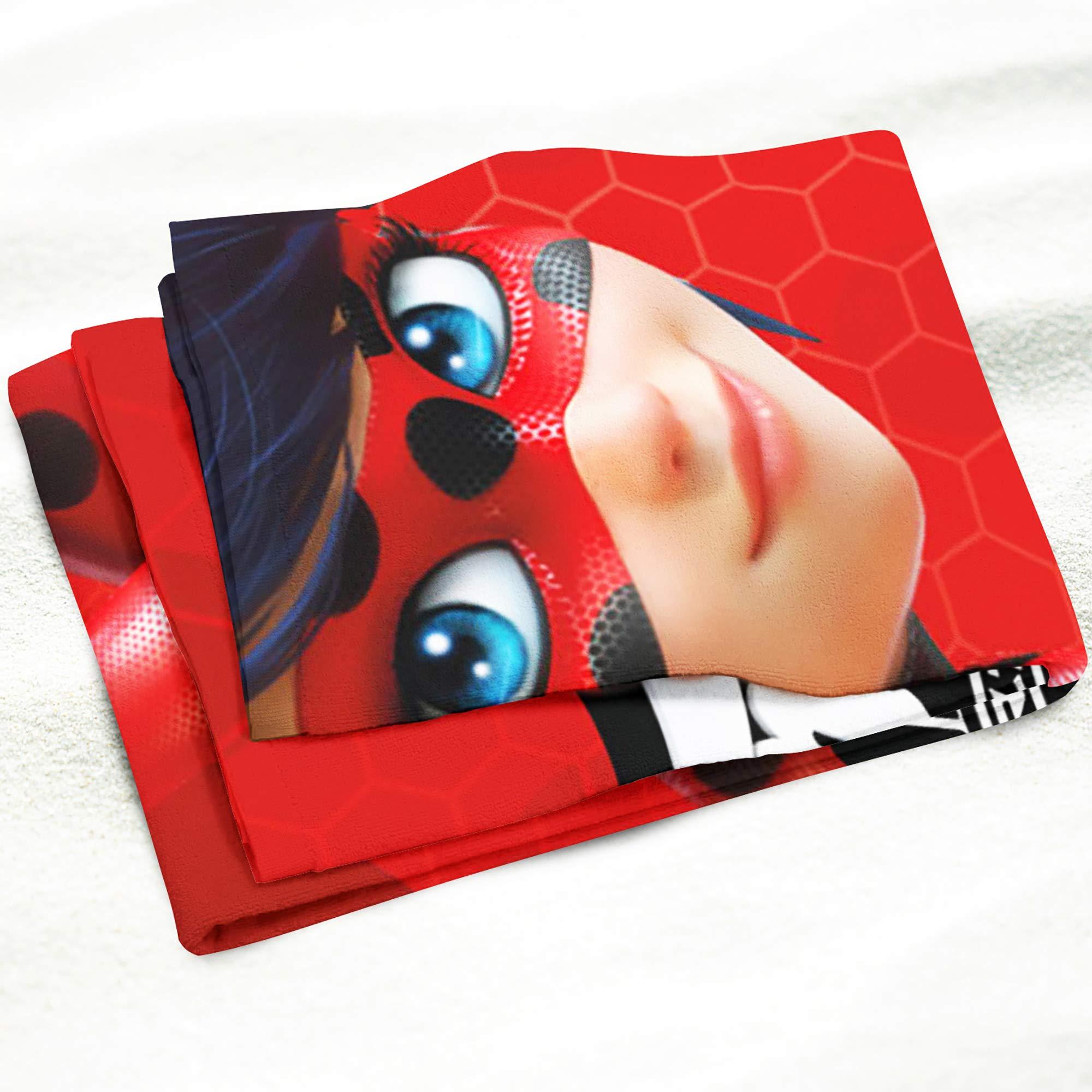 BERONAGE Miraculous Ladybug 014 - Toalla de baño (70 cm x 140 cm, 100% algodón), diseño de Ladybug, Color Rojo: Amazon.es: Hogar