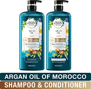 Herbal Essences, Repairing Argan Oil Of Morocco Shampoo and Conditioner set With Natural Source Ingredients, Color Safe, BioRenew, 20 fl oz