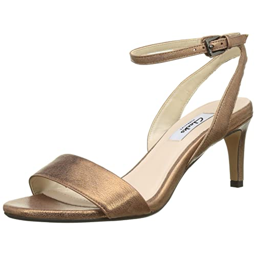 454812d2ce3 Clarks Women s Amali Jewel Heels Sandals Bronze