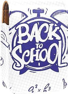 Sminkväska läppstift fodral för utomhus mini väska resa sminkväska med spegel läppstift låda väckarklocka start skola bok ...