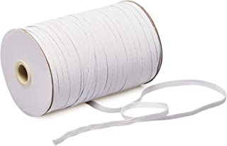 Elastic Bands for Sewing, 180-Yards, 1/8 Inch Width Braided Elastic Cord Spool, White
