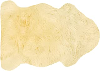 Sheepskin Rug Single - Sheepskin Fur 2 x 3 by A-Star(Tm) (Cream)
