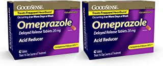 GoodSense Omeprazole Delayed Release, Acid Reducer Tablets 20 mg, 42 Count (2)