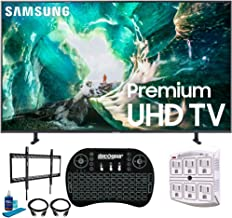 "Samsung UN82RU8000 82"" RU8000 LED Smart 4K UHD TV with 1 Year Warranty (2019 Model)(Renewed) Flat Wall Mount Bundle with Deco Gear 2.4GHz Wireless Keyboard Smart Remote and 6-Outlet Surge Protector photo"