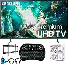 "Samsung UN82RU8000 82"" RU8000 LED Smart 4K UHD TV (2019 Model) (Renewed) + w/Flat Wall Mount Kit Bundle for 60-100 TVs + 2.4GHz Wireless Backlit Keyboard Smart Remote + 6-Outlet Surge Adapter photo"