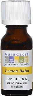 Aura Cacia Lemon Balm Pure Essential Oils In Jojoba Oil - 0.5 Oz