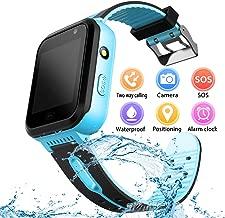 YENISEY Kids Waterproof Smart Watch, Children Phone IP67 Waterproof Smartwatch, Upgrade Touchscreen Smartwatchs, LBS Tracker SOS Anti-Lost Remote Camera Monitoring, Puzzle Game Watch for Girls Boys