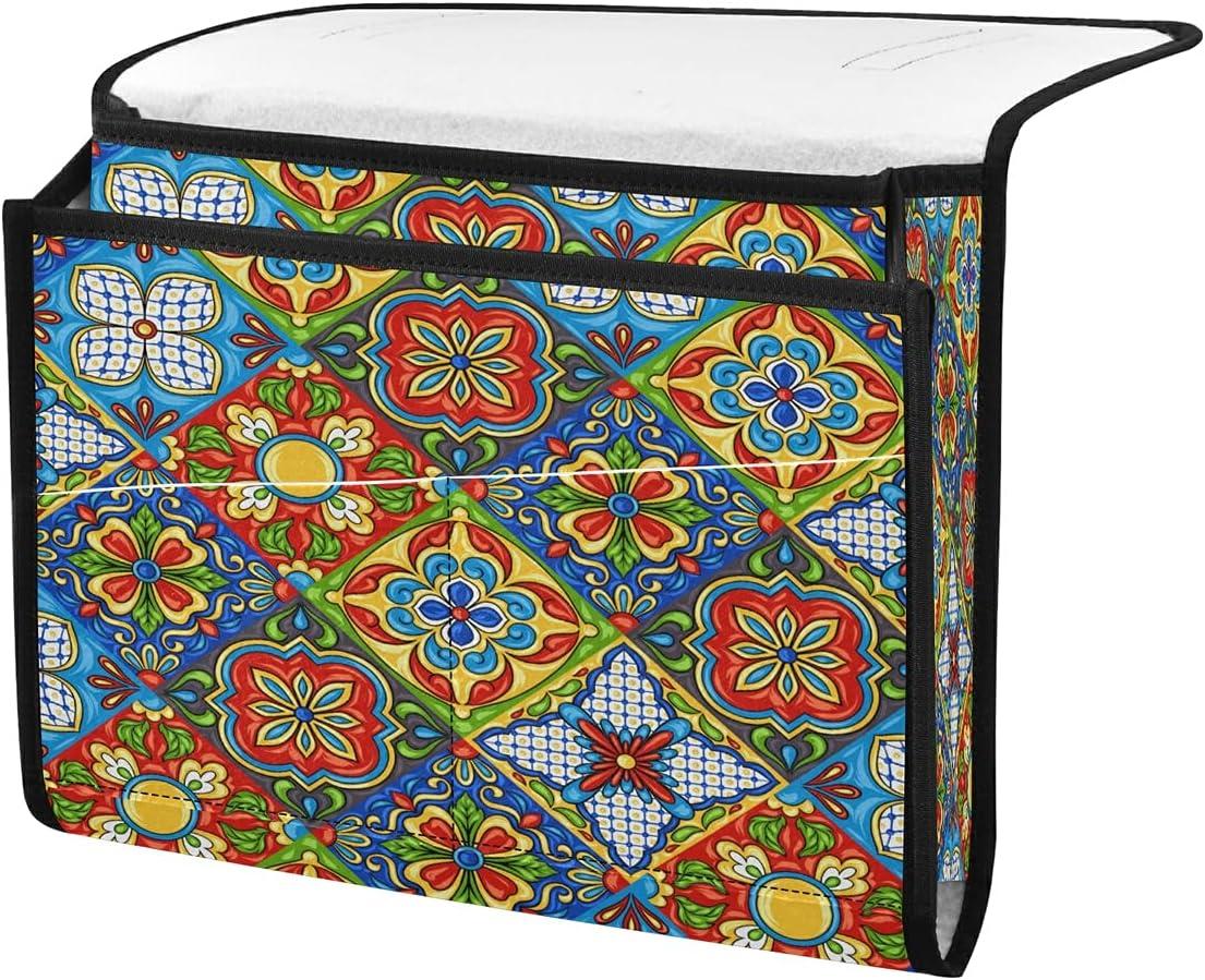 ECHOLI Ranking TOP13 Bedside Storage Caddy Organizer Mexican Ethnic Tal Floral Popular overseas