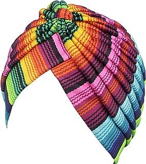 Turban Hat Chemo Cap Beanie Skullies Sport Hair Wrap Yoga Head wrap for Women