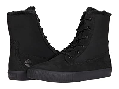 Timberland Skyla Bay Fleece Fold-Down (Black Nubuck) Women