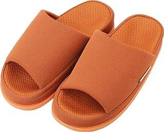 足で癒す リフレクソロジースリッパ リフレ 中心 ダークオレンジ L