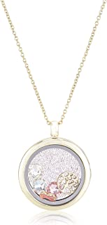 MESTIGE Women Crystal Gold Enduring Tree of Life Floating Charm Necklace with Swarovski Crystals