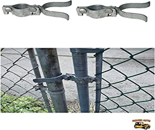 Chain Link Fence Gate Latch - Chain-Link Fork Latch Repair Kit For 1 3/8 Inch Chain Link Fence - Replacement Parts For Kennels, Runs 2 pc. Set