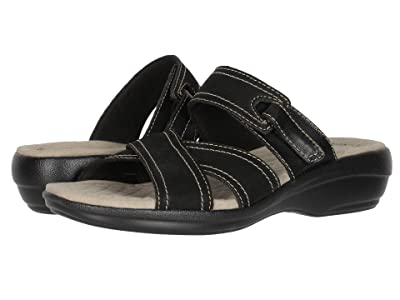 Clarks Alexis Art (Black Nubuck/Leather Combi) Women