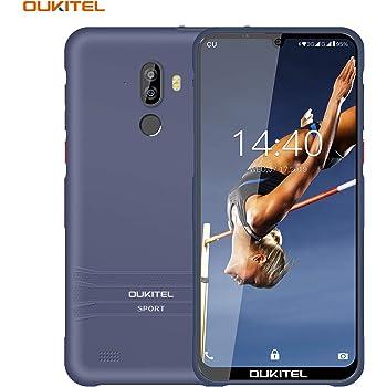 OUKITEL Smartphone Resistente, Y1000 6.08 IP68 Resistente al Agua 3600mAh Android 9.0 TPU Smartphone Posterior 2GB + 32GB 19.5: 9 MT6580P Face ID Fingerprint Teléfono móvil (Purple): Amazon.es: Electrónica
