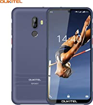 Điện thoại di động Android – OUKITEL Y1000 – Rugged Smartphone Unlocked Android 9.0 Waterproof IP68 Unlocked Cell Phones Cortes-A7, 6 Inch Waterdrop Display Non-Detachable Silicone Case Global 3G Dual Sim Card Shockproof