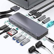 Estación De Acoplamiento Surface Pro 7, 7 En 2 Surface Pro Hub Adaptador con 4K HDMI, 2USB C PD Carga, 2USB3.0, Lector De ...