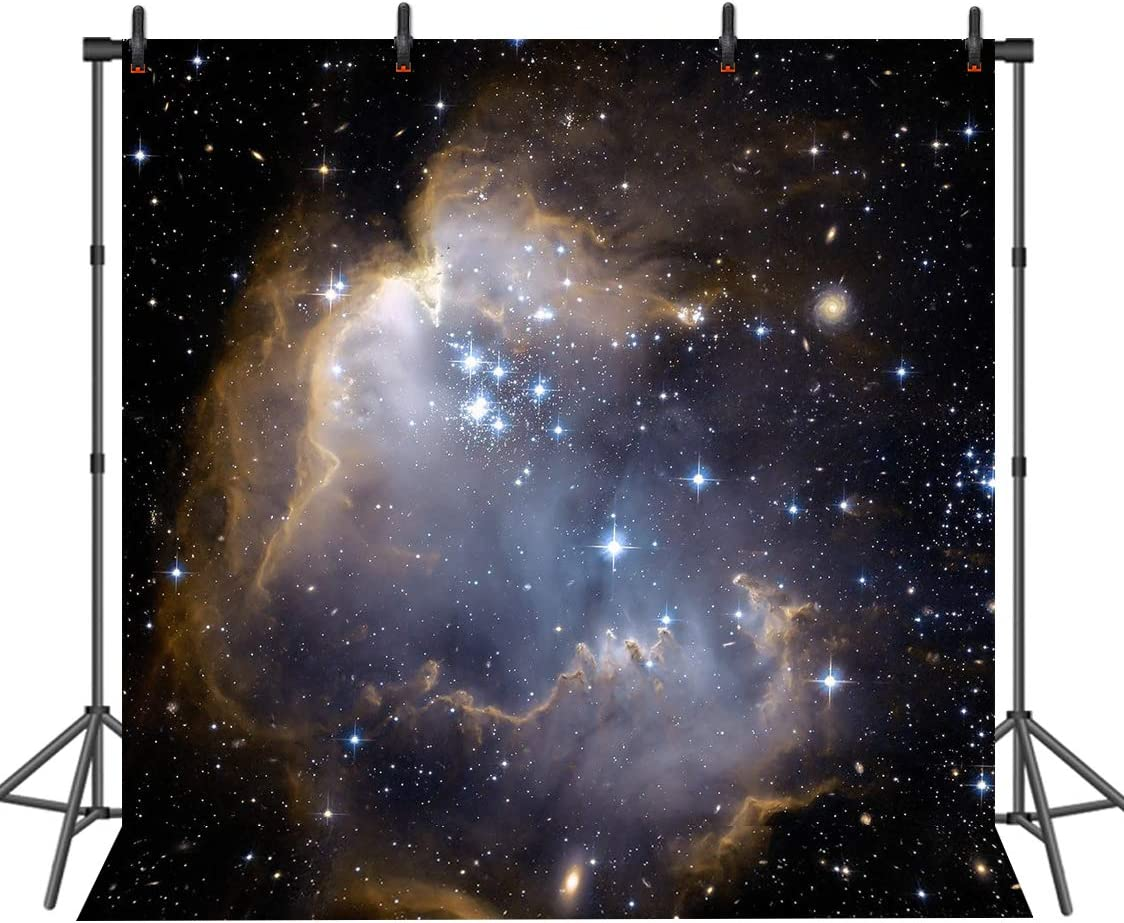 Sensfun 6x6ft Galaxy Starry Backdrop Outer Space Nebula Photography Backdrops Birthday Party Photo Booth Background Studio Video Props