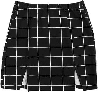 above the knee black skirt