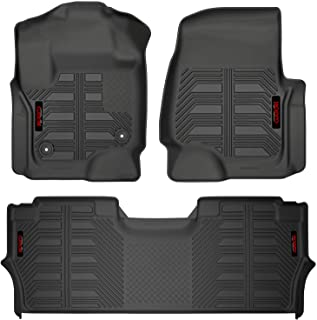 Gator 79613 Black Front and 2nd Seat Floor Liners Fits 17-19 F-250/F-350 Crew Cab