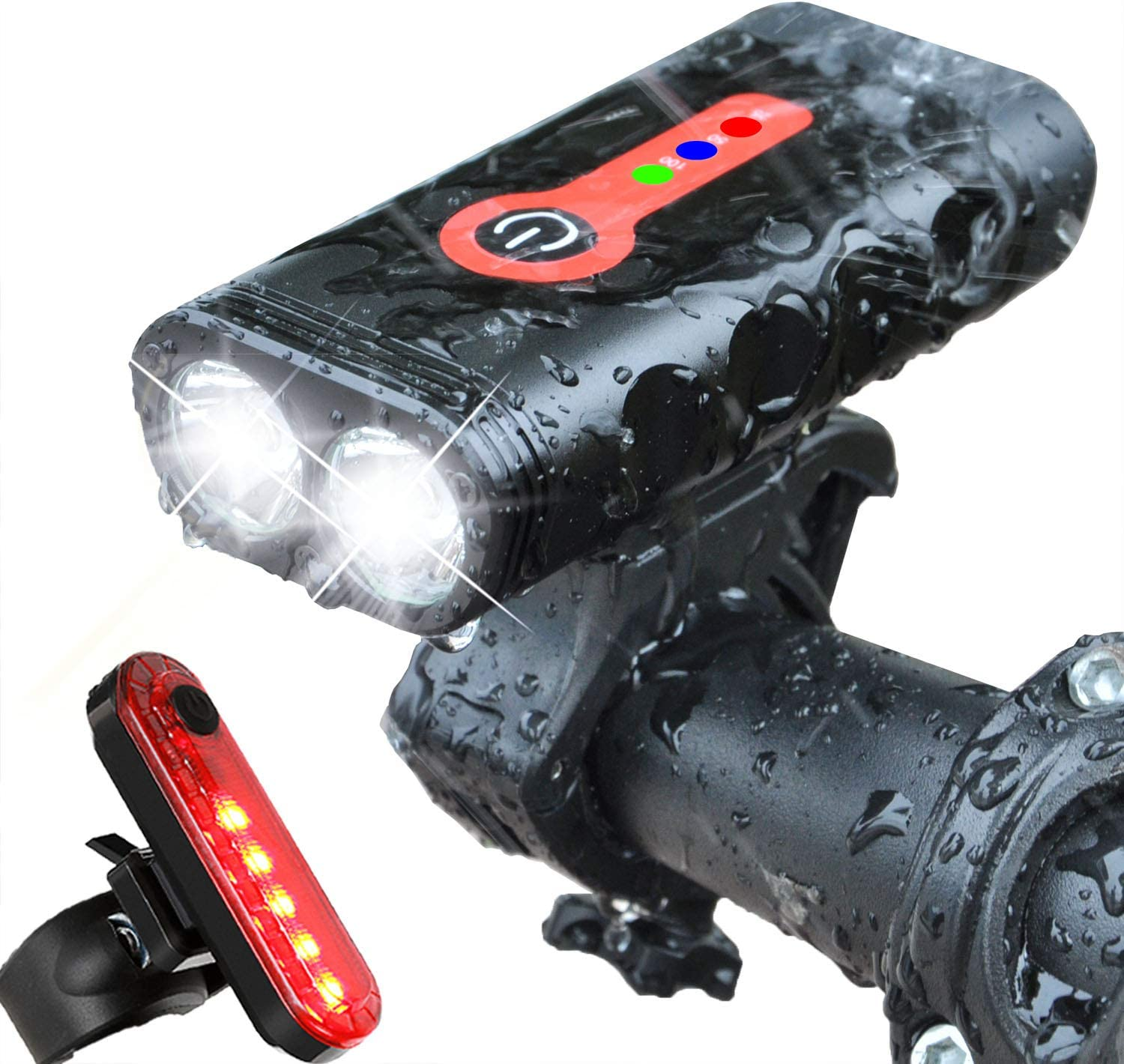LED High-power Bicycle Bike Head Light USB Rechargeable Waterproof Front Lamp UK