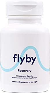 Flyby Recovery Pills for Better Mornings & Rapid Hydration Aid (30 Capsules) - Manufactured in USA - Electr...