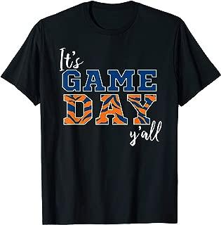 It's Game Day Ya'll Tiger Orange & Blue Tshirt
