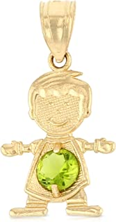 Details about  /14K Two Tone Gold Happy Boy Charm Pendant For Necklace or Chain