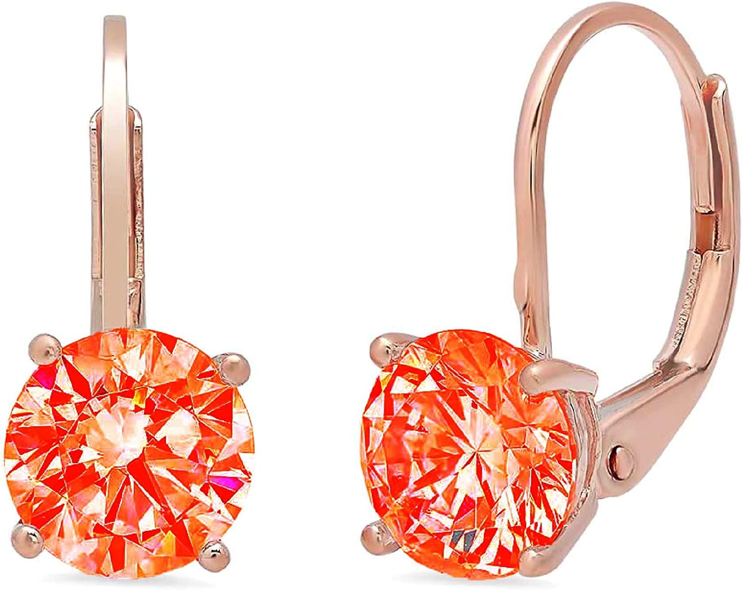 Clara Pucci 1.1 ct Brilliant Round S Cut VVS1 New Shipping Free Red Fine Solitaire Ranking TOP19